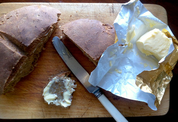 Spelt & tahini soda bread recipe. Wholesome Seduction.