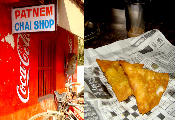 Goa samosa breakfast