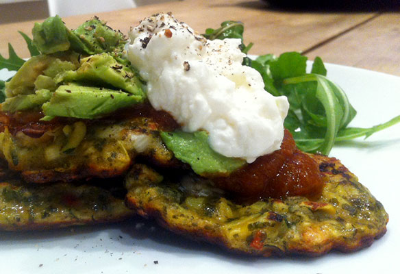 Courgette-&-prawn-fritters