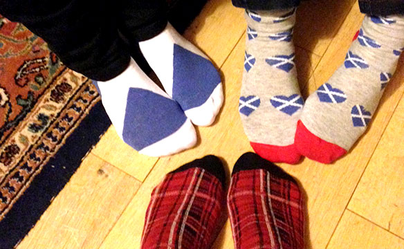 Scottish Christmas socks