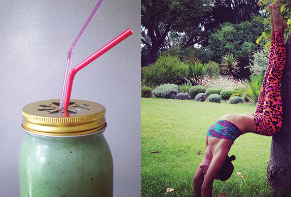 Green-juices-&-morning-yoga